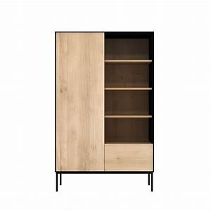 blackbird b meuble d39appoint bibliotheque ethnicraft en With meuble etagere avec porte