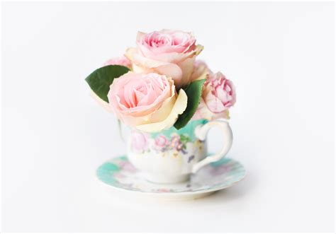 DIY Rose Teacup Bridal Bouquets   Beacon Lane Blog