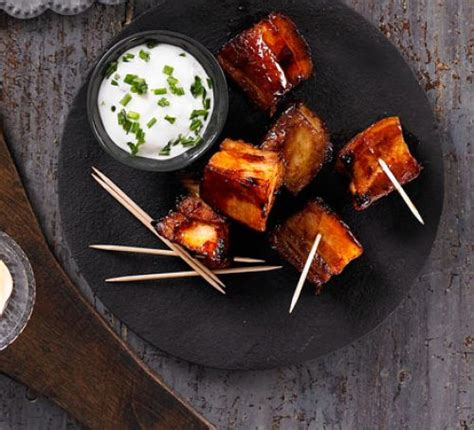 bourbon glazed pork belly chunks recipe bbc good food
