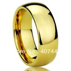 cheap mens wedding bands cheap price promotion free shipping mens tungsten comfort fit wedding band ring 18k gold plated