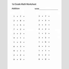 Printable Addition Worksheets 1st Grade  {download Printable Pdf*}