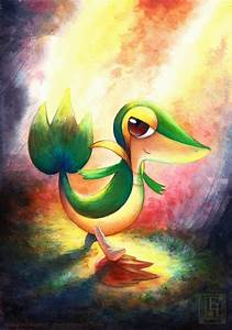 Snivy painting by EternaLegend on DeviantArt