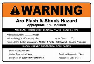 arc flash warning labels examples kamos sticker With kitchen cabinets lowes with arc flash stickers