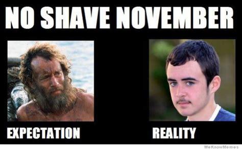 Movember Meme - no beard meme
