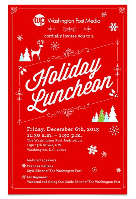 6+ Holiday Lunch InvitationsVector EPS Ai