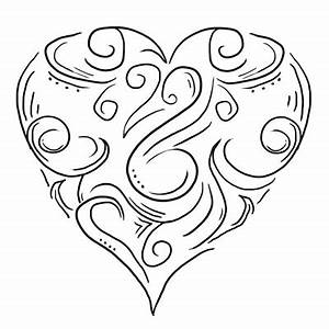 Nice Black Tribal Heart Tattoo Design