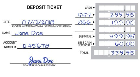 how to fill out a deposit ticket how to fill out a deposit slip