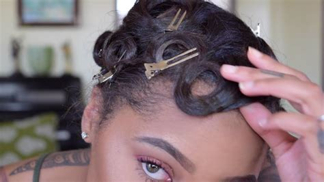 How To Pin Curl & Style Short Hair YouTube