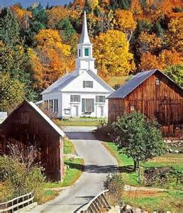 Autumn Country Church