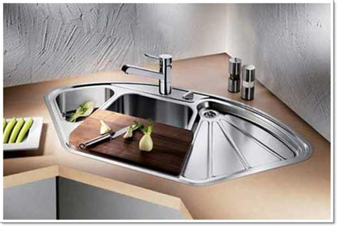 corner kitchen sinks save your space with corner kitchen sinks design kitchen