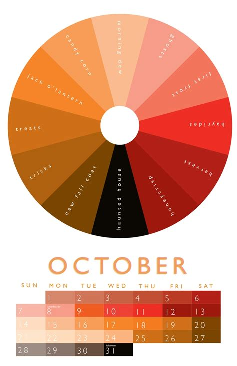 october color october color wheel 2012 calendar october