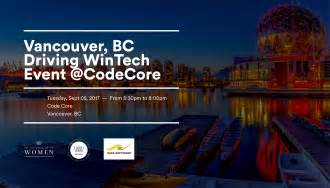 vancouver bc driving wintech event atcodecore state