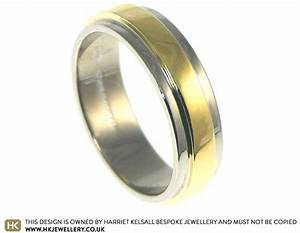 18 carat white and yellow gold wedding ring With 18 carat yellow gold wedding rings