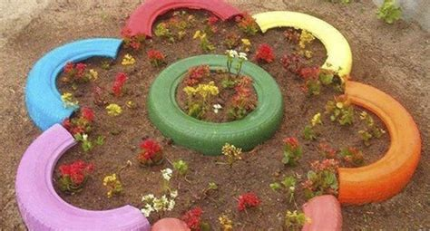 Used Garden Decoration by Best Decoration Ideas With Recycled Tires El Naturalista