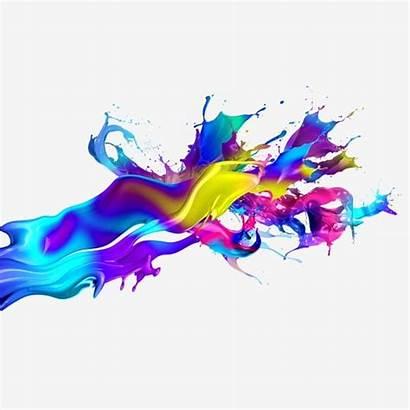 Splash Colorful Clipart Paint Tide Pintura Spray