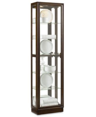 Macys Corner China Cabinet by Contemporary Curved Corner Curio Cabinet Furniture Macy S