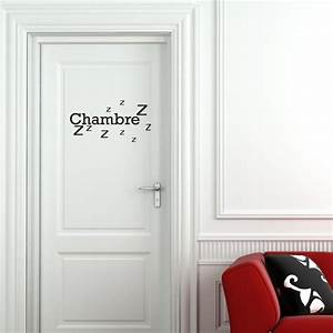 sticker porte chambre zzz stickers citation texte With porte de garage et porte interieur chambre