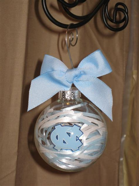 unc north carolina handmade glass ornament