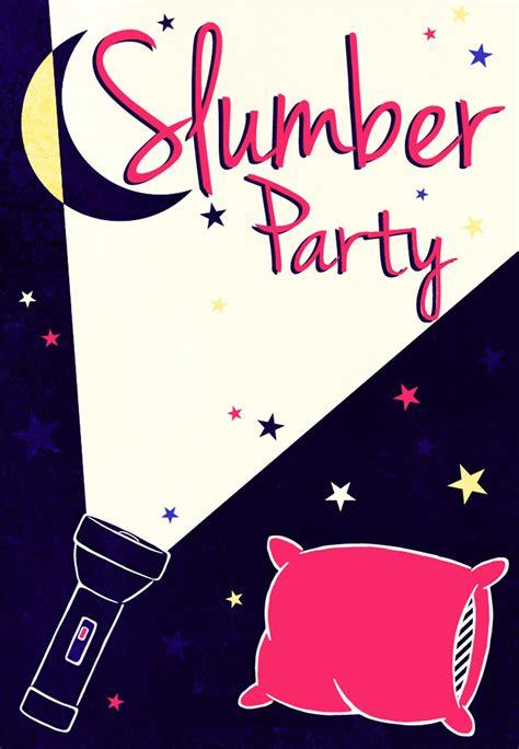 A Flash Light Free Printable Sleepover Party Invitation