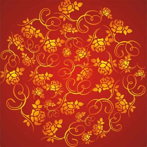 wealth rose pattern background  vector  coreldraw