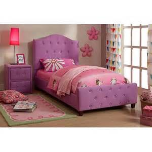 buy diva upholstered twin bed pink in cheap price on