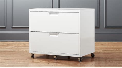 White Filing Cabinets tps white wide filing cabinet cb2