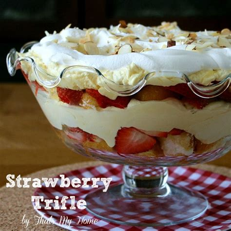 unique trifle recipes strawberry trifle dessert from that s my home strawberrytriffledessert dessertrecipe