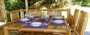 Set De Table En Bambou : toutes les paillotes de jardin en bambou nipahut ~ Premium-room.com Idées de Décoration
