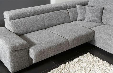 Ecksofa Mit Verstellbarer Sitzfläche by Dfm Santiago Ecksofa Grau M 246 Bel Letz Ihr Shop