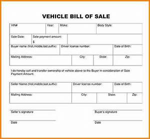 what is the bill of sale