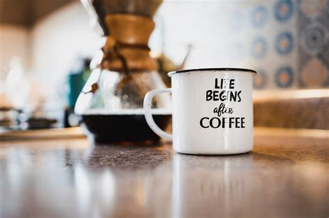 Next, put a filter in the funnel, then place about 3 tablespoons of freshly ground coffee into the filter. Just Drink More Coffee - Home Sweet Home - Medium