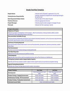 software test plan template word - test plan template format sample of work word simple