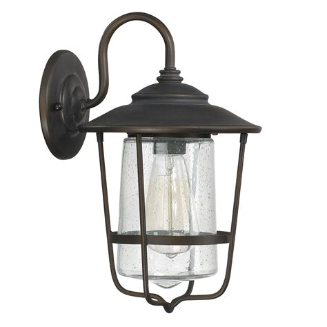 creekside bronze one light outdoor wall lantern with