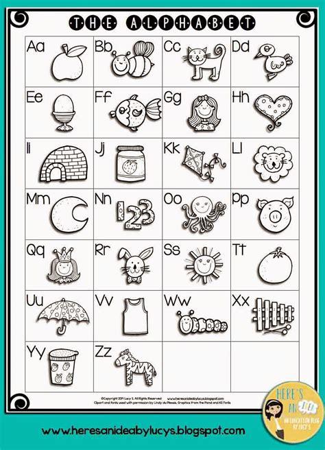alphabet activities  black  abc anchor chart