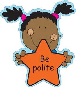 Be Polite Clip Art