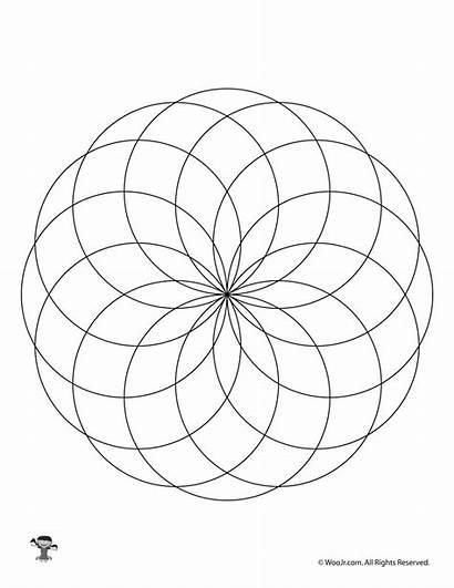 Fibonacci Spiral Coloring Pages Simple Pattern Printable