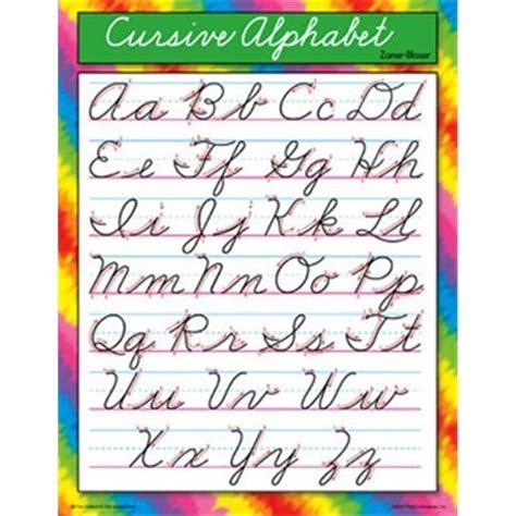 trend enterprises    chart cursive alphabet