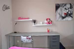 chambre de ma fille ado photo 5 12 grand bureau fait With bureau chambre ado fille