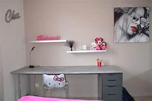 Bureau Ado Fille : chambre de ma fille ado photo 5 12 grand bureau fait ~ Melissatoandfro.com Idées de Décoration
