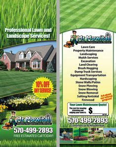lawn care landscaping door hangers images