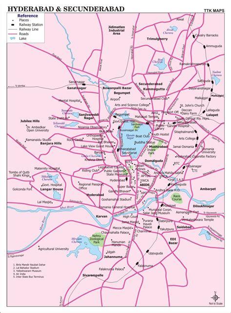 hyderabad secunderabad city map city map  hyderabad
