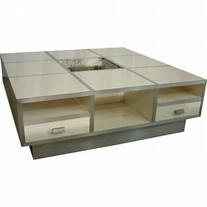 Table Basse Blanche Design : table basse vintage blanche 1980 design market ~ Nature-et-papiers.com Idées de Décoration