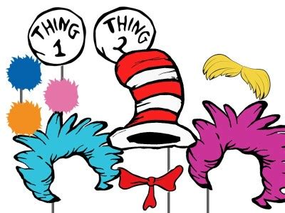 dr seuss inspired photo booth props magical printable
