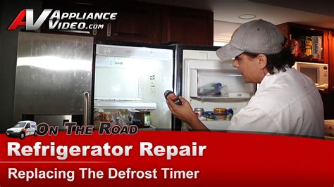 frigidaire frswscb refrigerator repair replacing  defrost timer timer appliance video