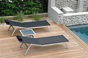 bain soleil piscine design en image With mobilier de piscine design