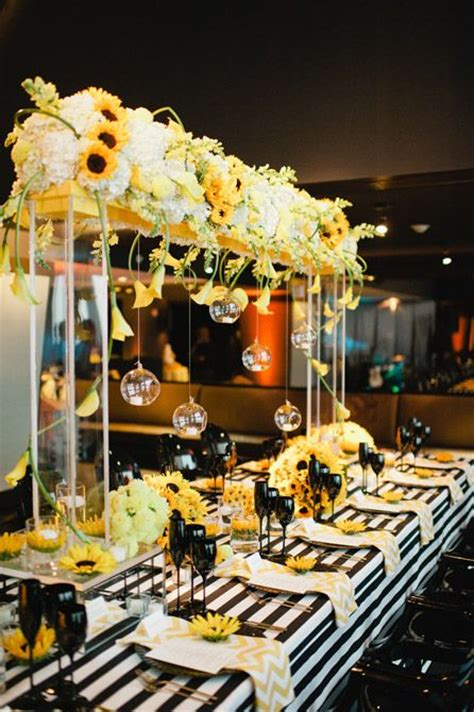 282 best images about black yellow weddings reception on yellow weddings