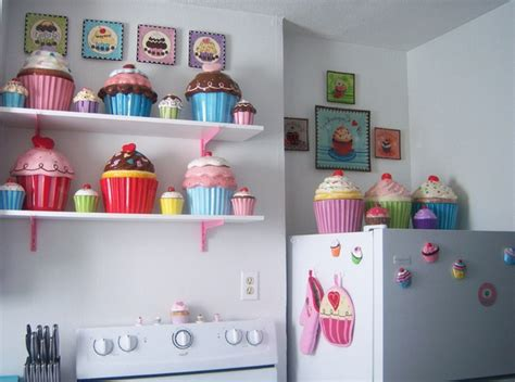 cupcake kitchen decor simple and shapes for decorating cupcakes the