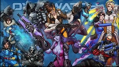 Overwatch Heroes Tracer Blizzard Deviantart Wallpapers Artwork