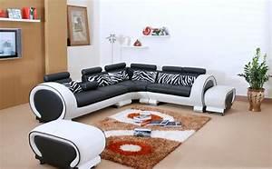 Canape C Discount : canaper noir et blanc maison design ~ Teatrodelosmanantiales.com Idées de Décoration