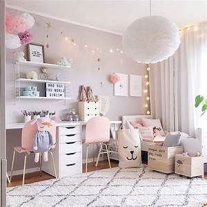 a scandinavian style shared girls39 room by pink walls With kids room ideas for girls